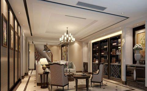 餐厅灯具新古典风格装潢效果图