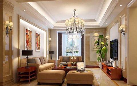 混搭风格130平米三房两厅新房装修效果图