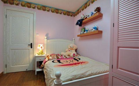 美式风格110平米三房两厅新房装修效果图