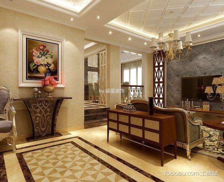 客厅地板砖欧式风格装修效果图