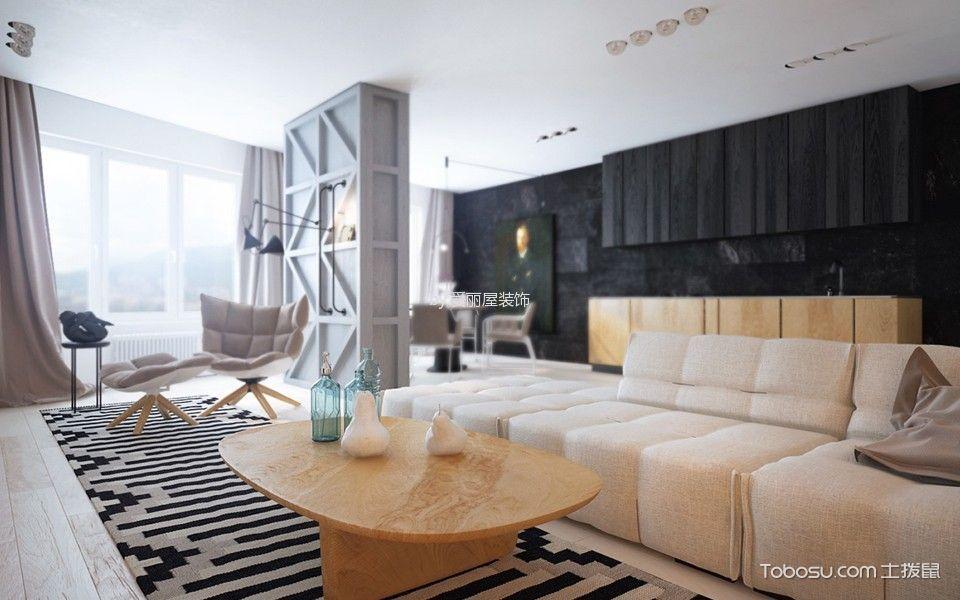 北欧风格98平米楼房房子装饰效果图