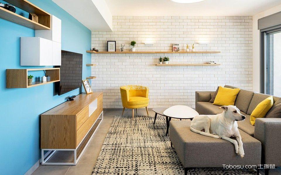 现代简约风格110平米两房2厅房子装饰效果图