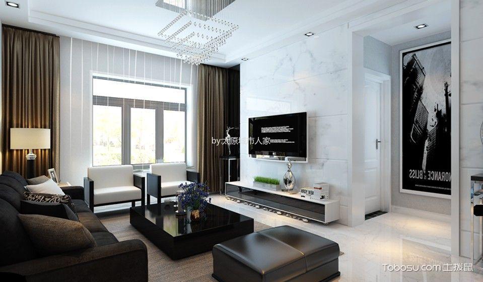 客厅 茶几_现代简约风格106平米三室两厅室内装修效果图
