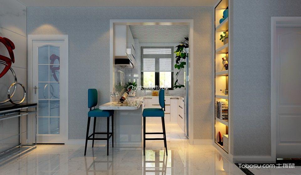 餐厅 吧台_现代简约风格106平米三室两厅室内装修效果图