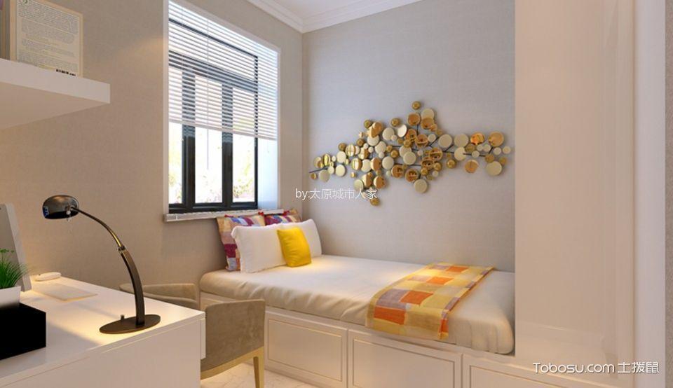 卧室 榻榻米_现代简约风格106平米三室两厅室内装修效果图