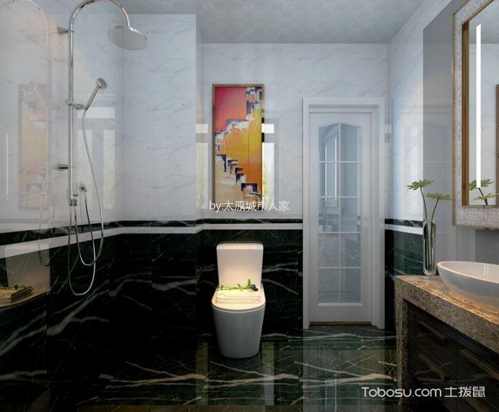 卫生间 地板砖_现代简约风格106平米三室两厅室内装修效果图