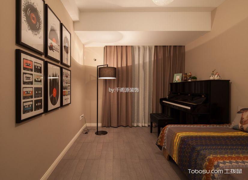卧室 窗帘_北欧风格80平米两室两厅室内装修效果图