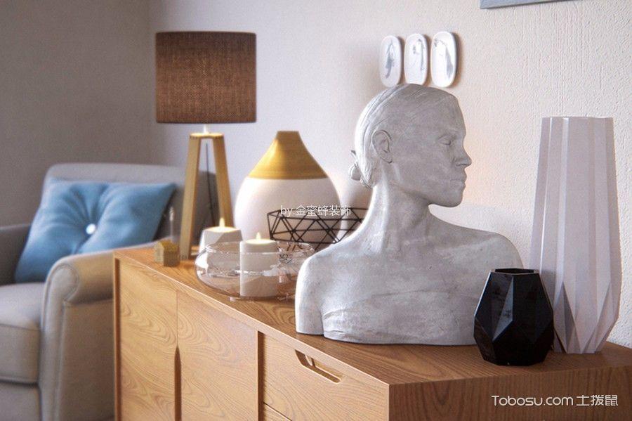 客厅彩色细节北欧风格装修设计图片
