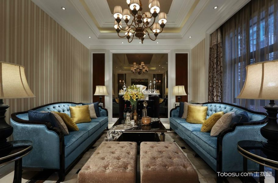 新古典风格250平米别墅新房装修效果图
