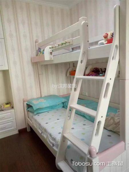 儿童房白色床简欧风格装潢图片