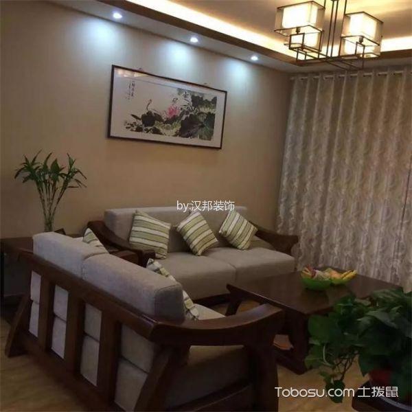 新中式风格100平米3房2厅房子装饰效果图