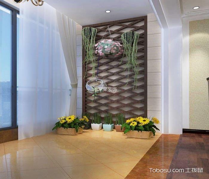阳台白色窗帘简欧风格装修设计图片