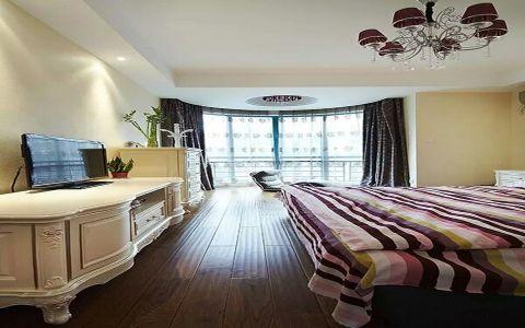 卧室电视柜现代简约风格装潢效果图