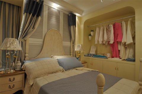 卧室米色衣柜地中海风格装饰图片