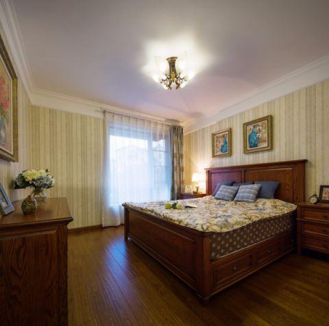 卧室黄色地板砖美式风格装潢设计图片