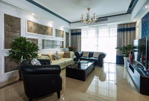 客厅白色吊顶现代简约风格装修效果图