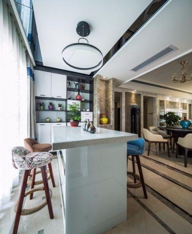 餐厅白色吧台现代简约风格装饰效果图
