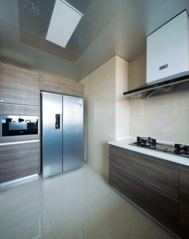 厨房白色背景墙现代简约风格装潢效果图