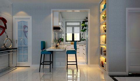 餐厅白色吧台现代简约风格效果图