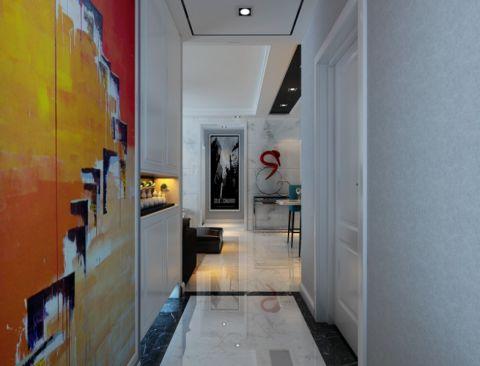 玄关彩色背景墙现代简约风格装修效果图