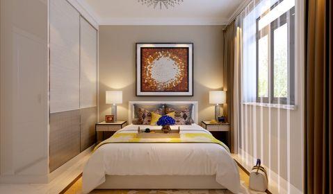 卧室白色衣柜现代简约风格装饰效果图