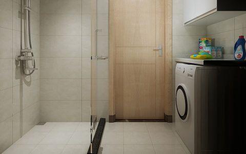 卫生间白色地板砖北欧风格装饰效果图