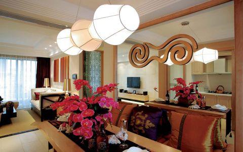 餐厅灯具东南亚风格装饰设计图片