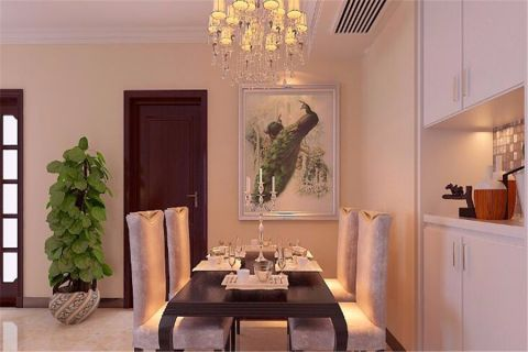 中式风格135平米楼房室内装修效果图