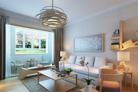 日式风格108平米楼房室内装修效果图