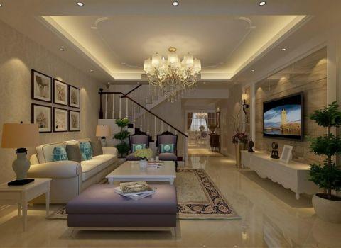 简欧风格120平米复式室内装修效果图