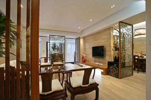新中式风格134平米大户型新房装修效果图