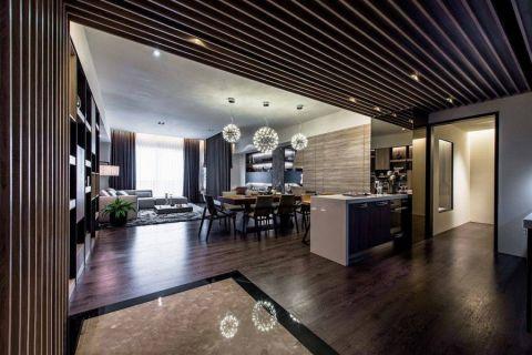 餐厅咖啡色地板砖现代简约风格装饰效果图