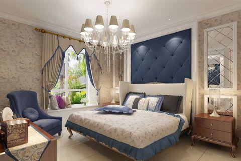 卧室黄色灯具简欧风格装饰效果图