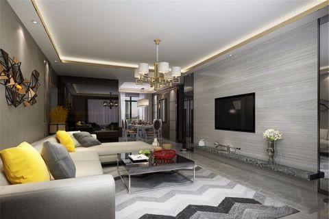 客厅白色吊顶简约风格装饰图片