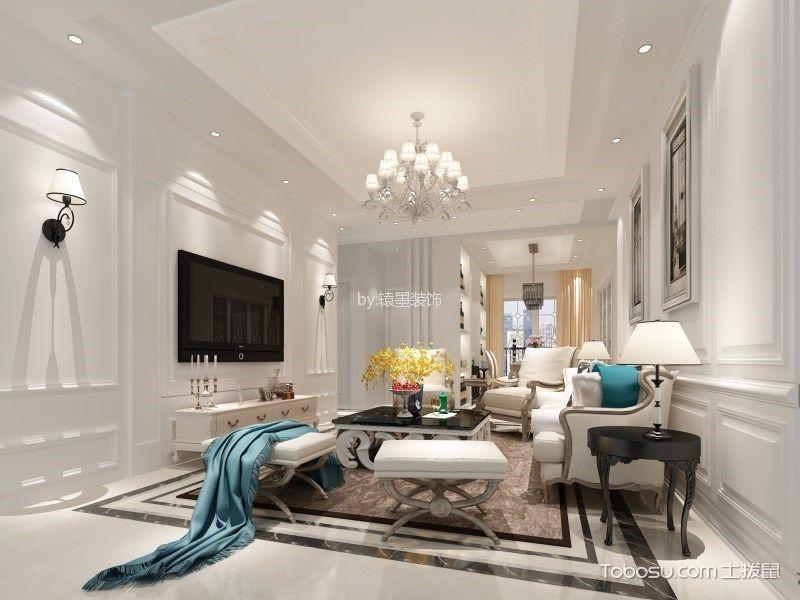 欧式风格114平米三室两厅室内装修效果图