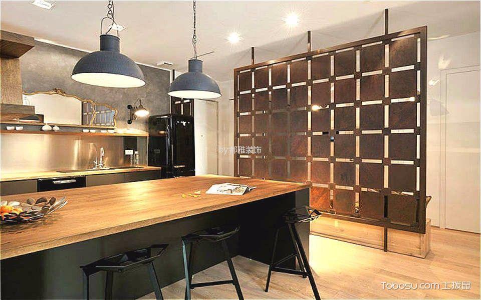 厨房黄色吊顶混搭风格装潢图片