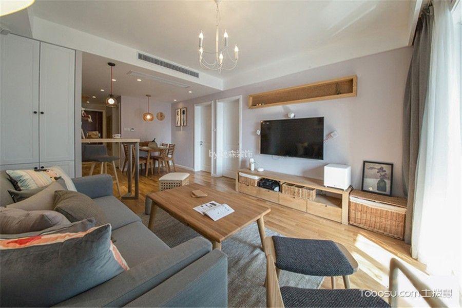 北欧风格96平米三房两厅新房装修效果图