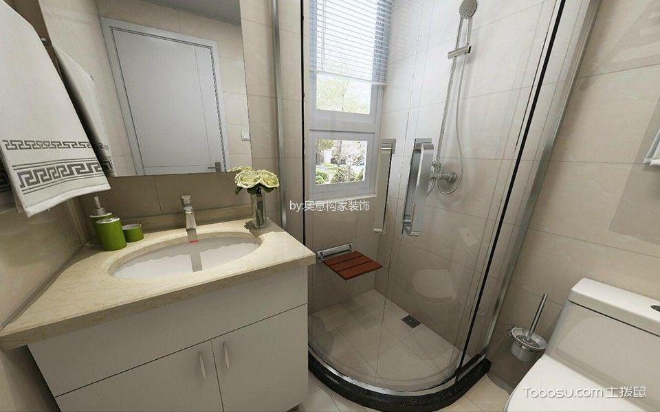 卫生间白色洗漱台北欧风格效果图