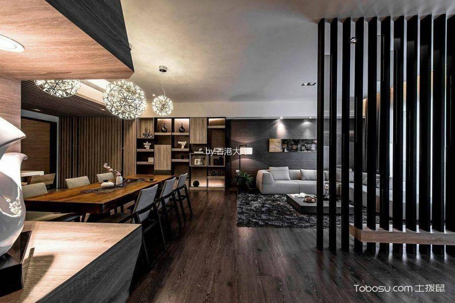 餐厅灰色走廊现代风格装潢设计图片