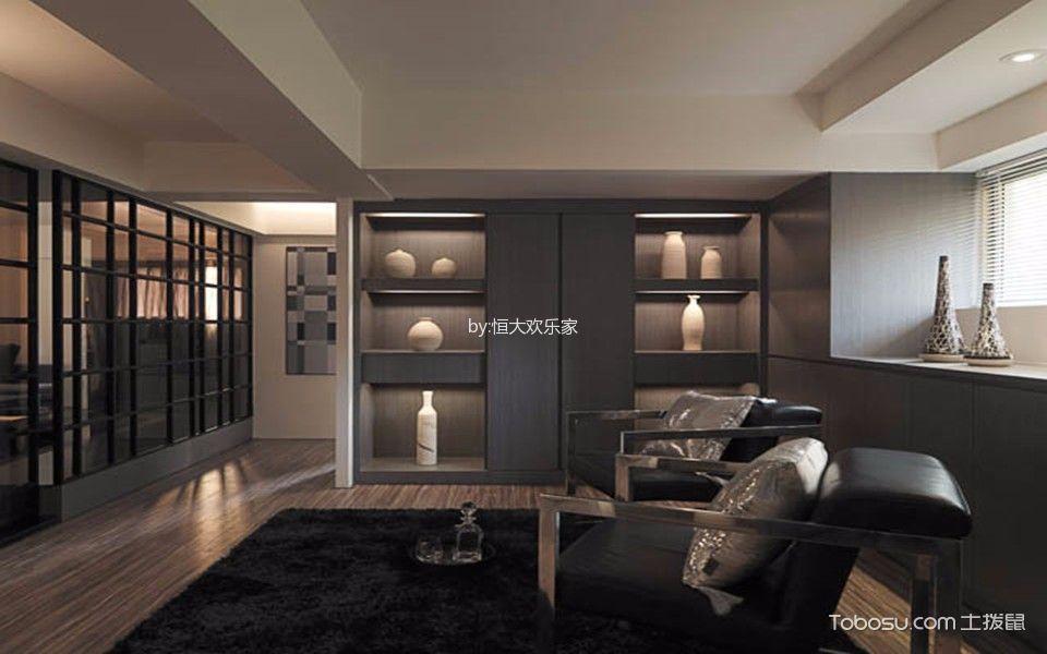2018现代简约客厅装修设计 2018现代简约博古架装修设计图片