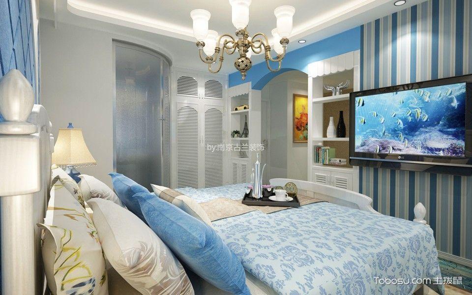 卧室白色吊顶地中海风格装饰效果图