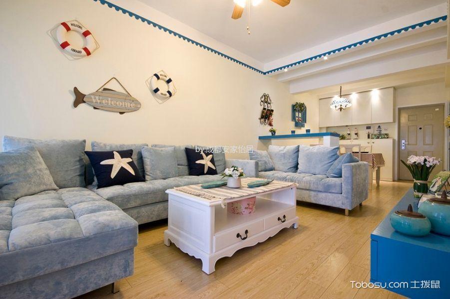 德坤海地亚清新地中海风格三居室装修案例