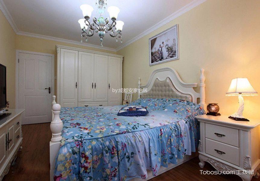 卧室白色吊顶地中海风格效果图