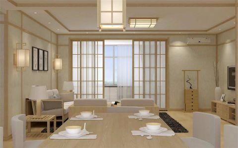 餐厅推拉门日式风格效果图