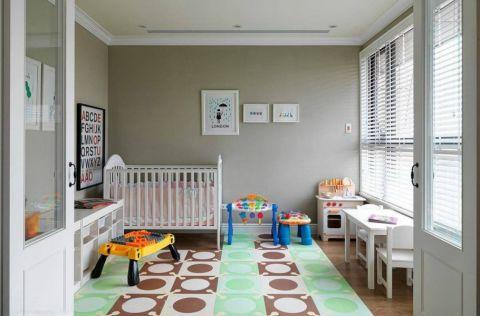 儿童房飘窗美式风格装潢设计图片