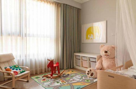 儿童房窗帘美式风格效果图