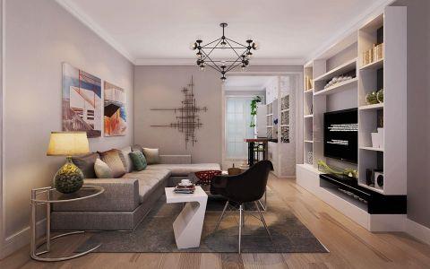 现代简约风格87平米小户型新房装修效果图
