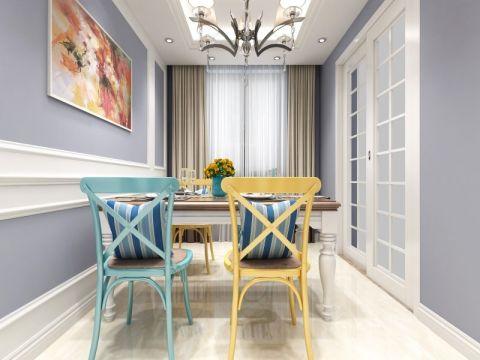 佳源巴黎都市三居室美式风格效果图