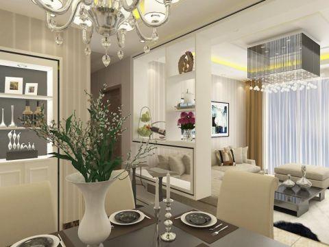 华盛格林丽景三居室现代风格效果图