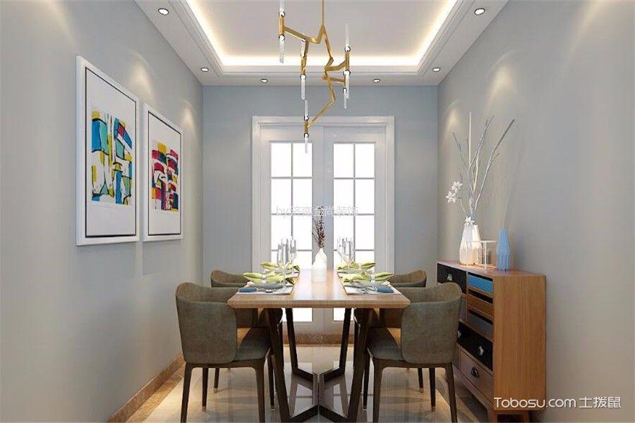 餐厅白色推拉门混搭风格装修图片